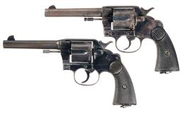 Two Colt New Service Double Action Revolvers with Royal Northwes