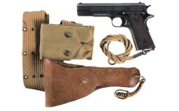 U.S. Colt Model 1911 Semi-Automatic Pistol with Holster Rig