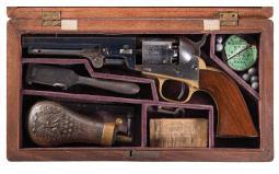 Desirable Cased Colt Model 1849 Percussion Pocket Revolver