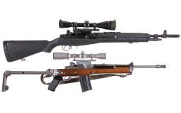 Two Scoped Sporting Semi-Automatic Rifles