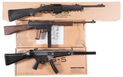 Three Sporting Rifles with Boxes