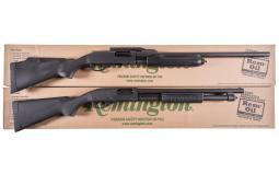 Two Remington Slide Action Shotguns with Boxes