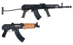 Two AK-Pattern Semi-Automatic Weapons