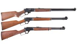 Three Marlin Lever Action Long Guns