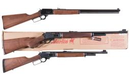 Three Marlin Lever Action Rifles