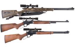 Three Long Guns with Scopes