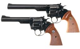 Two Colt Trooper MK III Double Action Revolvers