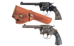 Two Colt Double Action Revolvers