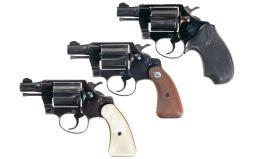 Three Colt Double Action Revolvers
