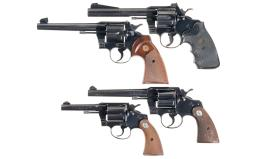Four Colt Double Action Revolvers