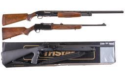 Two Shotguns and One Rifle