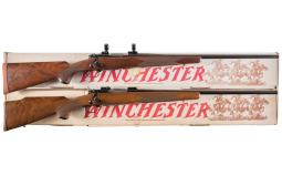 Two Winchester Bolt Action Rifles with Boxes