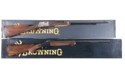 Two Browning Sporting Rifles with Boxes