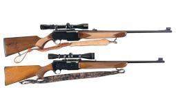 Two Browning BAR Semi-Automatic Rifles with Scopes