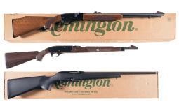 Three Remington Semi-Automatic Rifles