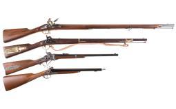 Four Reproduction Long Guns