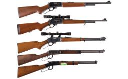 Five Lever Action Longarms