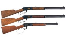 Three Winchester Lever Action Longarms