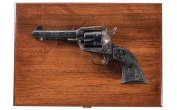Cased John Wayne Commemorative Colt New Frontier Revolver