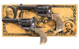 Two Uberti/Cimarron Lightning Single Action Revolvers