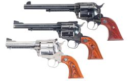 Three Ruger Single Action Revolvers