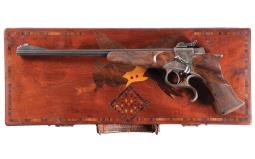 Cased and Engraved Buchel Original Tell Freehand Target Pistol