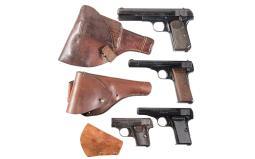 Four Fabrique Nationale Semi-Automatic Pistols