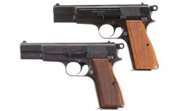 Two Belgian High Power Semi-Automatic Pistols