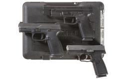 Three Semi-Automatic Pistols