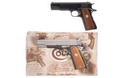 Two Colt Government Model Semi-Automatic Pistols