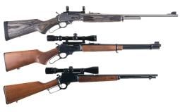 Three Lever Action Longarms