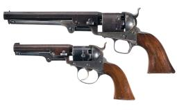 Two American Percussion Revolvers with Holsters