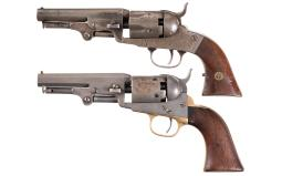 Two American Percussion Pocket Revolvers
