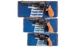 Three Smith & Wesson Double Action Revolvers with Boxes