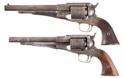 Two Remington Percussion Revolvers