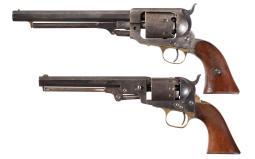 Two Naval Caliber Percussion Revolvers