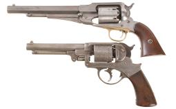 Two U.S. Martially Inspected Percussion Revolvers