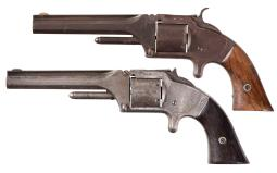 Two Smith & Wesson Model 2 Army Revolvers