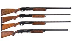 Four Remington Slide Action Shotguns