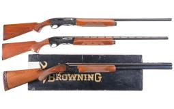 Three Factory Engraved Shotguns