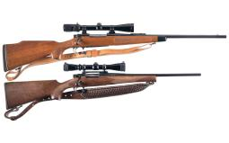Two Scoped Remington Bolt Action Rifles