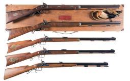 Five Modern Half Stock Percussion Rifles