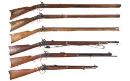 Six Modern Percussion Rifles