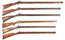 Six Modern Black Powder Long Guns