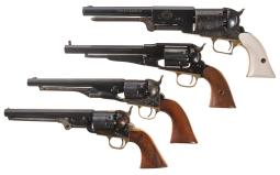 Four Percussion Revolvers