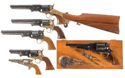 Six Reproduction Percussion Revolvers