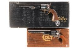 Two Colt Percussion Revolvers with Boxes