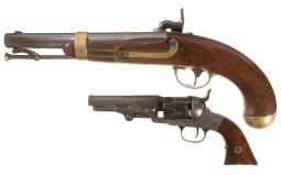 Two Antique American Percussion Handguns