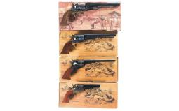 Four Reproduction Percussion Revolvers with Boxes