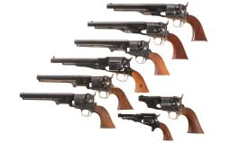 Eight Reproduction Percussion Revolvers
